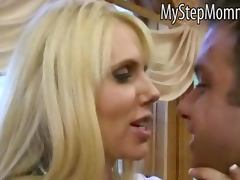Blonde teen Molly Bennett licked cum on Karen Fishers pussy