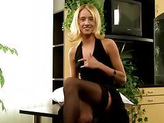 Blonde Slut Puttin' Hard Toys Up Her Snatch