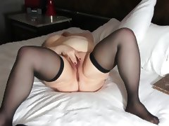 Old fat lady masturbating to orgasm