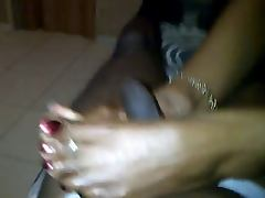 very mature ebony feet