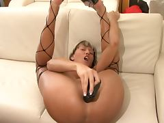 Hot german model fucking her ass