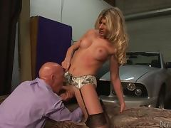 Angelina Torres the hot shemale gets fucked near the car