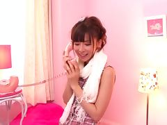 Incredibly Beautiful Japanese Babe Moeka Nomura Sucking Off a Cock