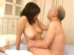 Old and Young, Big Tits, Bitch, Blowjob, Bra, Couple
