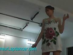 Sensual lapdance by superhot czech teen