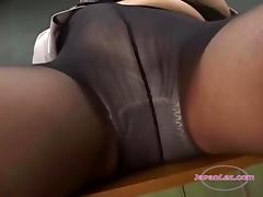 2 Teachers In Pantyhose Masturbating In Front Of Each Other Sucking Toes In The Classroo