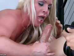 Sadie Swede loves sucking his cock with his cum in her mouth
