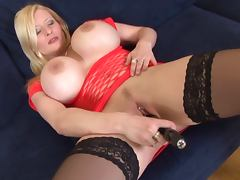 German Big Tits vs toy with dirty talk