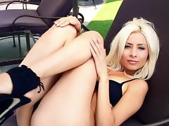 Ingrid De is a perfetc wife who gets nude when her husband is away