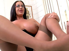 Busty milf Emma Butt is riding on a dick