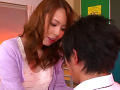 Eri Ouka riding cock in the classroom like crazy