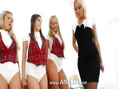 Three anal teenagers and their teacher