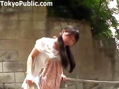 Japanese Girl Walks Around With A Vibrator In Her Panties