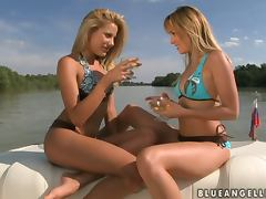 Unbelievable Outdoor Lesbian Sex on a Yacht with Anita Pearl and Blue Angel