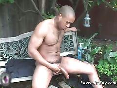 Malik jacking off his big cock