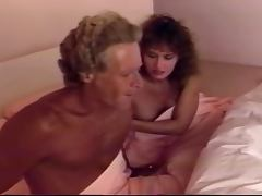 Ashlyn Gere the curly brunette sucks a cock and gets fucked