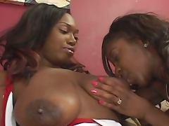 Ebony milf lesbians hot action