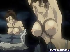 Bondage Japanese hentai gets shoved wetpussy and hard fucked