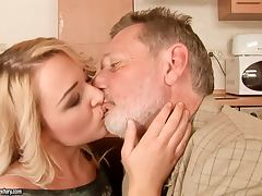 Blonde Babe Is A Great Grandfather Hunter