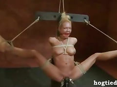 Hogtied Rain Degrey gets vibrated