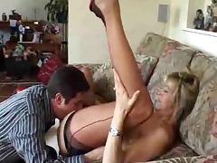 Nylon, Couple, Lick, Lingerie, Nylon, Slut