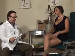 Sperm collector Vannah Sterling fucks a doctor in his office
