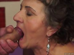 Kata gets her old hairy pussy licked and fucked from behind