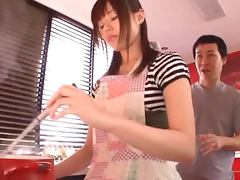 Japanese Housewife Fucked Hard In The Kitchen porn video