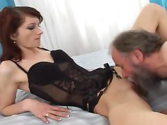 Old and Young, Bitch, Blowjob, Couple, Cumshot, Dirty