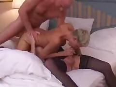 This is a fiery threesome sex with mature couple and shemale