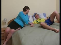 Brunette Russian Shorthair BBW Milf fucked by young Guy