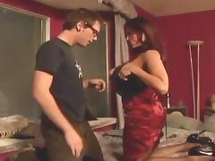 Busty milf shows some tricks to an inexperienced guy porn video