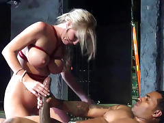 Bus, Big Cock, Big Tits, Blonde, Blowjob, Bus