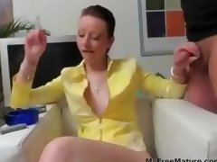 Bored Housewife Jerks Smoking mature mature porn granny old cumshots cumshot