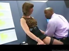 Office Milf In Stockings Flirts And Fucks mature mature porn granny old cumshots cumshot