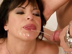 Kinky Albertina gets fucked and peed on her face