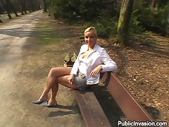 Sex at the Park with Firm Boobed Babe Gina Frost in POV