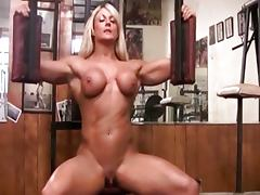 Bodybuilder, Clit, Gym, Muscle, Solo, Bodybuilder