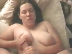 Busty Girl gets Titty Fucked then Creamed on her Neck