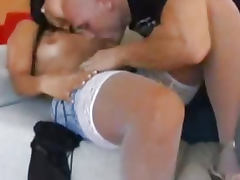 Horny sex wife shows her lust during hardcore vagi