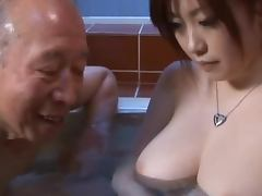 Busty Teen Strokes And Sucks Older Dick In The Bathroom