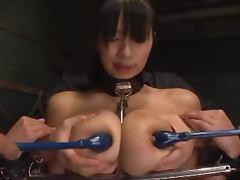 Riai Sakuragi gets her holes toyed by a few kinky dudes