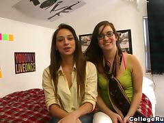 Truth or Dare, Amateur, College, Dare, Doggystyle, Glasses