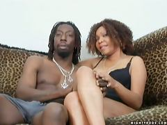 Tengi is sweet on her new boyfriend's large black cock