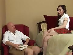 Skirt Wearing Tranny Fucked Up The Ass