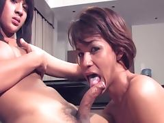 Asian tranny suck each others uncut salami