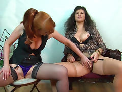 Gilly and Red Xxx are fucking each other with dildos