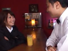 Sexy Japanese MILF Nanami Kawakami Gets Fucked Hard by the Bartender