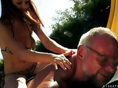 Old and Young, Blowjob, Close Up, Cumshot, Doggystyle, Facial