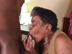 Ebony Grannie suck and fuck Young BBc